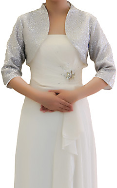 3/4 Sleeve Chiffon Evening / Wedding Wrap / Jacket (More Colors)