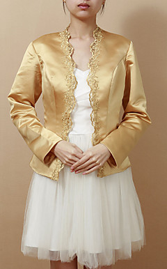Nice Long Sleeve Satin Evening/Wedding Wrap/Jacket (More Colors)