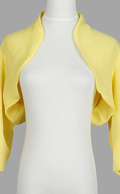 Nice 3/4 Sleeve Chiffon Evening/Casual Wrap/Jacket