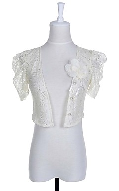 Beautiful Short Sleeve Chiffon/Lace Evening/Casual Wrap/Jacket (More Colors)