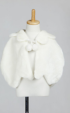 Flower Girl Faux Fur Abendgesellschaft / Wedding Shawl