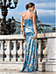 Sheath/Column Sweetheart Floor-length Sequined Evening Dress With Split Front