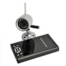 venta al por mayor 2,4 g de detección de movimiento inalámbrico 4-ch grabadora de video digital con cámara de visión nocturna (szh702)