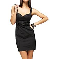 venta al por mayor algodón / v profunda vestido de escote posterior camisola / vestidos de mujer (ff-1801bf004-0853)
