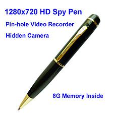 venta al por mayor 8gb bolígrafo espía con cámara oculta hd