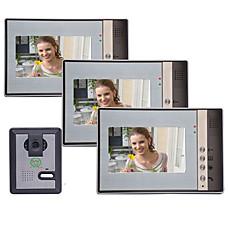 venta al por mayor arrastró a los tres de video a color timbre de la puerta de intercomunicación (sy802ma13)