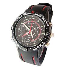 venta al por mayor deporte impermeable reloj digital grabadora de vídeo con grabadora digital de voz, memoria de 4 g / cámara oculta (tra628)
