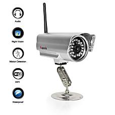 venta al por mayor cámara del IP de mal tiempo con visión nocturna + + sensor de movimiento de alerta