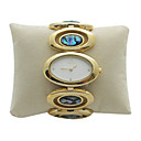 Ladies Golden Watch with Double Color Ribbons (WEIQIN-039) (Start From 5 Units)
