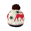 SAMII Jacquard Deer Crochet Knit Beanie Hat-Black (0026) (Start From 20 Units)-Free Shipping