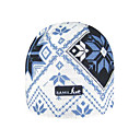 SAMII Jacquard Argyle Bibbed Hat Knit Beanie-White + Blue (0004) (Start From 20 Units)-Free Shipping