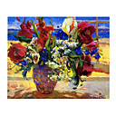 Handmade Flowers Art Oil Painting on Canvas/High quality GDH-145 (Start From 20 Units) Free Shipping
