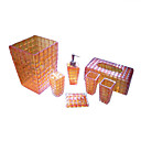 7 Piece Crystal Bathroom Accessory Set/Soap Dish +More YSYP017 (Start From 10 Units) Free Shipping
