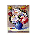 Handmade Flowers Art Oil Painting on Canvas (GDH-151) (Start From 20 Units)-Free Shipping