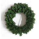 2.7m canadian christmas pino artificiale wreath unlit (sdbg014) (iniziare da 20 unit)-spedizione gratuita