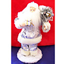 Silver Santa Clause Christmas Ornament (LR050) (Start From 30 Units)-Free Shipping