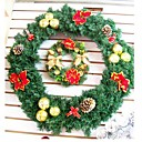 PVC 45CM Indoor Outdoor Christmas Wreath (SDZS008) (Start From 100 Units)-Free Shipping