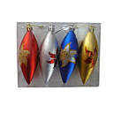 Set of 4 Multi Color Candy Teardrop Christmas Ornaments (SDBG072)(Start From 100 Units)