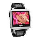 "2GB Widescreen MP4 / MP3 Player Watch-1.5""TFT Display / Waterproof Function /White S828-2"