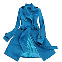 double breasted ceinture trench-coat, taille: s / m / l (yfns077) ( partir de 10 units) Livraison