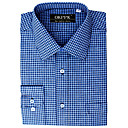 Top Grade Men's Long Sleeve Twill Wrinkle Dress Shirt (QRJ013) -Free Shipping by Air Mail