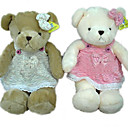 1 PC Plush Bear, Brown/White Bear In Skirt (MR025) (Start From 5 Units)-Free Shipping