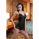 Intricate Venice and Sheer Baby Doll / BLACK (LRB2053) (Start From 5 Units)Free Shipping