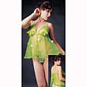 Fabulous Sexy Fabric Baby Doll & Panties/Green (LRB2012)