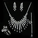 Elegant Drop Wedding Jewelry 4 piece Set (TYPJ020) (Start From 10 Units) Free Shipping