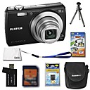 Fujifilm Fuji FinePix F100fd 12MP Digital Camera + 2GB SD Card + Extra Battery + 6 Bonus