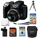 Nikon Coolpix P80 10.7MP Digital Camera + 4GB SD Card + Extra Battery + 6 Bonus