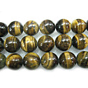 "16"" 16mm Round Natural Tigereye Stone Loose Strand Gemstone Beads (Start From 5 Units)"