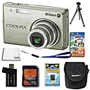 Nikon Coolpix S700 12.4MP Digital Camera + 2GB SD Card + Extra Battery + 6 Bonus