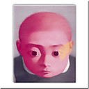 "Oil Painting with Stretched Bar A Little Pink Boy by Xiaogang Zhang 24"" x 20"" (SZH305) Free shipping"