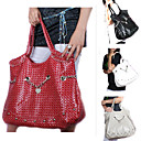 Breathtaking PU Tote Shoulder Bag with Patterned Cloth Lining M5210 (XXBC008)