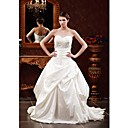 Ball Gown Sweetheart Court Train Nylon Taffeta Wedding Dresses for Bride DA8062-1X (HSX822)