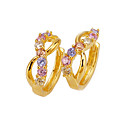 18K Stylish Dancing Cubic Zirconia Earring - CZ Earring SYX--0131 Colorful (SZY432)