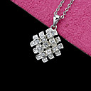 Cubic Zirconia Knot Pendant Necklace - Cubic Zirconia Necklace 80801 - 01 Clear (SZY702)