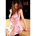 satn rosa 2-pieza babydoll lencera a1001a