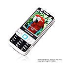 BX N9000  Dual Card Quad Band TV Cell Phone Silver&amp;Black
