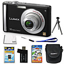 Panasonic Lumix DMC-FS20 10.7MP Digital Camera with 3.0-inch LCD + 4GB SD + Battery + 6 Bonus SZW668