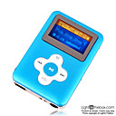 4gb mini mp3 players com alto-falante azul (szm066)