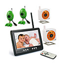 2.4GHZ 7-Inch Baby Monitor with 4x wireless Night Vision Camera