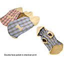 Dog Clothes Double face Jacket in Checker Print