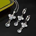 Platinum Classical Design CZ Jewelry Set-Cubic Zirconia Jewelry Set 81012-56 (SZY1709)