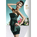 Sheath / Column Strapless Short / Mini Satin Cocktail Dress / Prom Dress (OFGC0071)