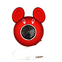 Cool Cartoon Mouse Digital Speaker For IPOD/MP3 Player/PC/Notebook/DVD Player Red (MD-2001)