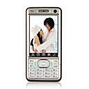 S812+ Dual Card Quad Band Dual Camera TV Function Touch Screen Cell Phone Silver&amp;Purple