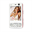 MM95+ Single Card Quad Band Dual Camera Dual Slide  Mini Cell Phone White&amp;Pink