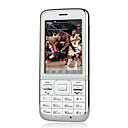 Taizi T760 Dual Card Quad Band Ultra-thin Touch Screen Cell Phone Silver